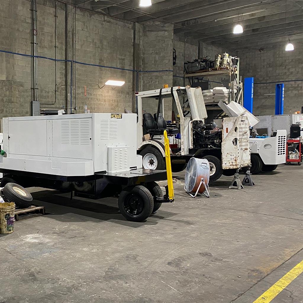 TUG baggage tractor repair service