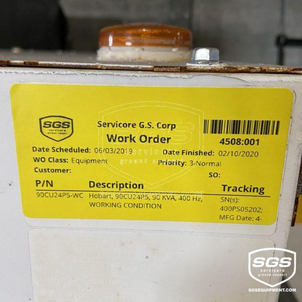 ITW Hobart 90CU24 90KVA GPU 4508